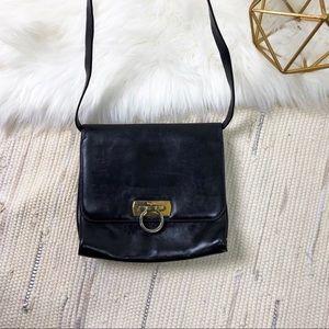 Vintage black leather Salvatore Ferragamo bag